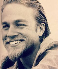 Charlie Hunnam when he is smile he made my mood