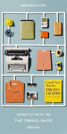 Mr Porter Travel Promo by Sarah Parker Creative Design Set, Web Design, Layout Design, Print Design, Dm Poster, Poster Design, Email Newsletter Design, Email Design, Branding