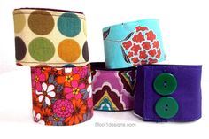Five Colorful Wristbands/Wrist Cuffs/Wrist by 5foot1 on Etsy