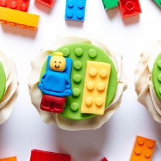 Creamy Caramel Lego Cupcakes recipe #BiteMeMore