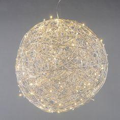 Bodenleuchte Draht Kugel 80cm LED Aluminium: #drahtleuchte #innenbeleuchtung #pendelleuchte #beleuchtung