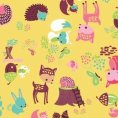 Heather Rosas - Fairyville - Woodland Animals in Yellow