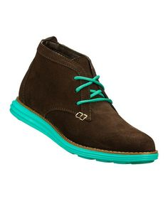 Take a look at this Chocolate & Aqua Suede Bootie by Skechers on #zulily today! $37 !!