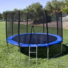 Best Choice Products Outdoor Round Jump Trampoline Set w/Safety Enclosure, Waterproof Padding, Ladder - Blue Toddler Trampoline, Outdoor Trampoline, Trampoline Workout, Fitness Trampoline, Trampoline Safety, Trampoline House, Bounce Jump, Trampolines For Sale, Online Shopping