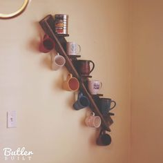 Hey, I found this really awesome Etsy listing at https://www.etsy.com/listing/230579880/unique-mug-rack