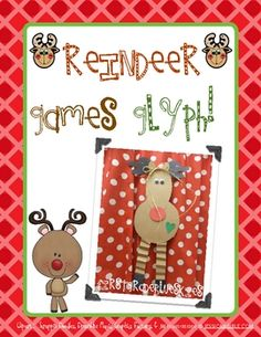 How cute is this reindeer? Included is the template for the reindeer, glyph poster, an extra reindeer craft idea and pattern, 2 writing activities. Preschool Christmas, Christmas Holidays, Christmas Ideas, Christmas Stuff, Holiday Ideas, Merry Christmas, Xmas, Classroom Fun, Classroom Activities