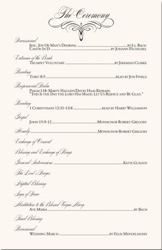 Corner Paisley Catholic Wedding Program | Wedding Programs ...