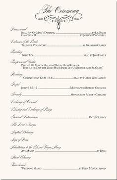 catholic wedding mass programs