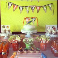 Dinosaur Birthday Party Dessert Table From Kellys Cupcake Company Naples FL Dinosaurparty