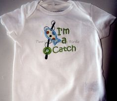 Baby Boy Onesie I'm a Catch fishing