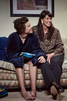 Harry Styles and his mom! They're so cute!!!!