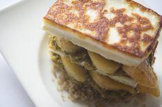 peach and halloumi salad Halloumi Salad, Diet Inspiration, Peach, Breakfast, Recipes, Food, Breakfast Cafe, Peaches, Rezepte