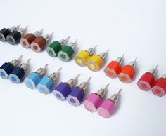 Colored Pencil Ear Studs