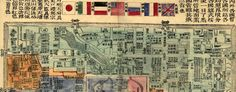 #map of Foreign Embassies in #Beijing in the 1900s. #China