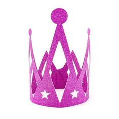 Dark Pink Sparkly Glitter Princess Crown - This pretty crown is made of dark pink glittery card and is perfect for a princess party or fairy party. Matches the rest of our princess pink and gold crown range. Pink Princess, Princess Birthday, Princess Party, Pink Sparkly, Pink And Gold, London With Kids, Crown Party, Pamper Party, Gold Party