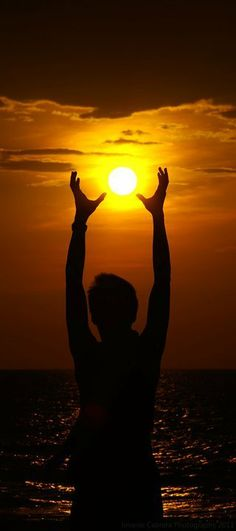 I have the sun in my hands.