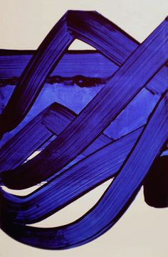 La Dolce Vita: Color Crush: Indigo: Pierre Soulages, Composition, 1988