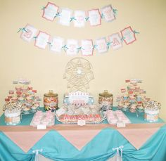 vintage aqua + pink circus party  {Love the Day}