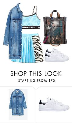 """""""Untitled #1316"""" by palemermaid ❤ liked on Polyvore featuring VFiles, Jakke, adidas and Chanel"""