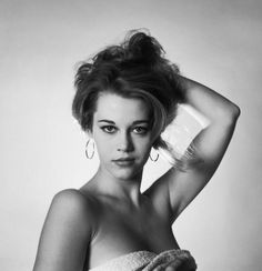 """theniftyfifties: """" A 19 year old Jane Fonda in a 1957 test shot. Photo by Mark Shaw. """""""