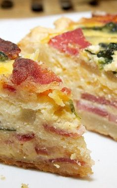 Ham and Egg Crepe Squares | Recipe | Ham And Eggs, Hams and Crepes