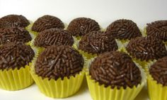 Brigadeiro:  These sweets look similar to chocolate truffles and are very popular in Brazil and it is usually served at birthday parties or at any kind of party. This treat is made with a mix of condensed milk, butter and chocolate cocoa powder, it's then cooked and is rolled into small balls once cold, they are covered in chocolate sprinkles. It can also be consumed unrolled, with a spoon or used as a topping or filling for cakes, brownies