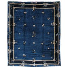 wool Chinese Peking rug ~ circa 1920