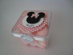 caixa de acrilico lembrancinha minnie rosa - Pesquisa Google