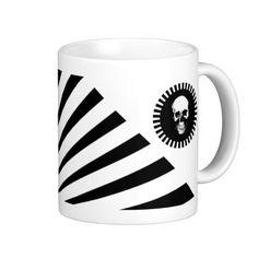 Black and White Striped Skull Gothic Mug #gifts #mugs #cool
