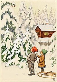 View Topp, tipp och tott by Elsa Beskow on artnet. Browse upcoming and past auction lots by Elsa Beskow. Christmas Tale, Vintage Christmas Cards, Christmas Illustration, Illustration Art, Beautiful Christmas Scenes, Vintage Book Art, Elsa Beskow, Mother Art, Scandinavian Christmas