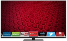 VIZIO Smart LED TV Introducing the all-new 2014 E-Series diag.) Full-Array LED Smart TV with an ultra-narrow frame, crystal-clear LED-lit picture, and a faster, easier-to-use Smart TV experience. Big Screen Tv, Flat Screen, Screen Size, Lcd Television, Tv Accessories, Electronic Deals, Black Friday Specials, Best Appliances, Internet Tv