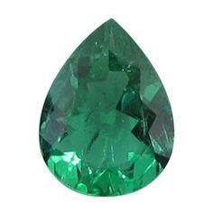 0.71 ct Pear Shape Emerald Fine Green -Gold Crane & Co.