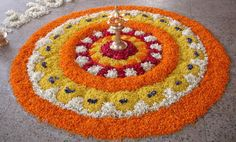 Making Rangoli designs at your house during any event is what everyone tries to achieve. Here are 75 simple rangoli designs for 2020 that are easy to make and will look the best with minimal efforts. Rangoli Designs Flower, Rangoli Patterns, Rangoli Ideas, Rangoli Designs Diwali, Rangoli Designs With Dots, Diwali Rangoli, Flower Rangoli, Beautiful Rangoli Designs, Flower Designs