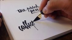 Folded Pen Calligraphy - The First Video