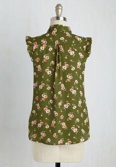 Everyday Indulgence Top | Mod Retro Vintage Short Sleeve Shirts | ModCloth.com