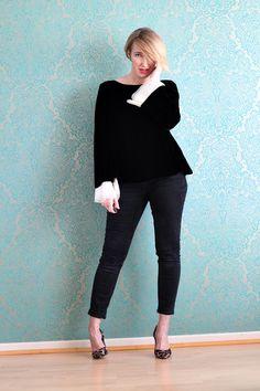 A fashion blog for women over 40 and mature women  Blouse: Armani Collezioni Pants: Zara  Shoes: Latouche