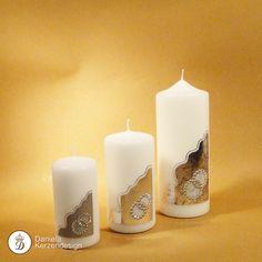 Verzierwachs zum Verzieren von Kerzen und Festtagskerzen Pillar Candles, Decorated Candles, Candle Decorations, Wax, Silver, Candles