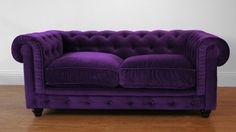 Luxury purple Chesterfield couch