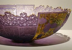 Twomo (Purple), 2010; cast glass, gold; 4 x 9 inches