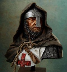 m Paladin Chainmail Armor Helm Cloak portrait med Knights Hospitaller, Knights Templar, Knight In Shining Armor, Knight Armor, Medieval Knight, Medieval Fantasy, Catholic Flag, Warriors Pictures, Crusader Knight