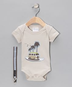 VW bus onesie with matching pacifier clip. $10.99