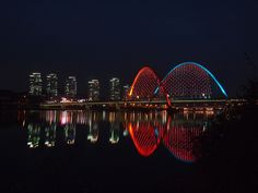 Smart City Apartments and Expo Bridge Reflection in Daejeon, South Korea Cities In Korea, Padi Diving, Scuba Diving, Daejeon, Diving Course, Vacation Home Rentals, Smart City, Seoul Korea, Koh Tao
