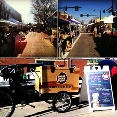 Parker Farmer's Market near Denver, CO with the Smart Cookie Cart - mobile dog treat vending tricycle. #treattrike