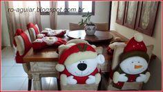 Capas de Cadeira para o Natal - RoAguiar