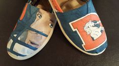 Hand-painted Custom Denver Broncos TOMS / VANS (or any sports team)  shoes on Etsy, $95.00