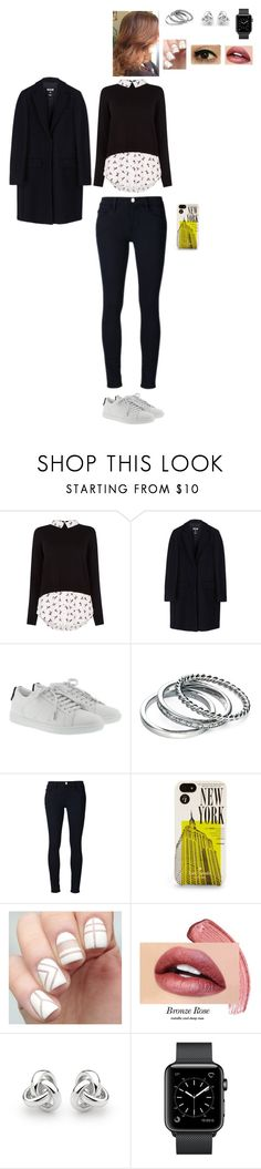 """""""La Rentrée"""" by leacousty55 ❤ liked on Polyvore featuring Oasis, MSGM, Yves Saint Laurent, Fiorelli, Frame, Kate Spade and Georgini"""