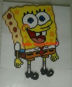 SpongeBob hama perler beads by Deco Hama Beads Merce Ruiz