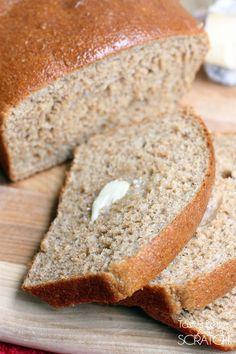Honey Whole Wheat Bread Recipe From Tastesbetterfromscratch Com
