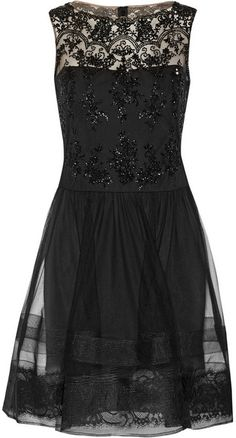 Black Lace Party Dress by Notte by Marchesa. Buy for $795 from NET-A-PORTER.COM