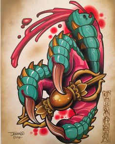 and I made this lucky dragon claw for our buddies and Congratulations on your move to the greater NY… Frog Tattoos, Body Art Tattoos, Graffiti Characters, Dragon Claw, Oriental Tattoo, E Tattoo, Neo Traditional Tattoo, Art Sketchbook, Coloring Books